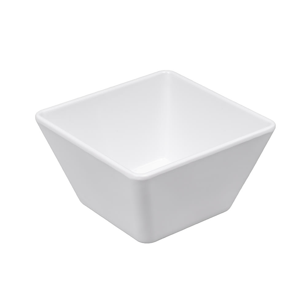 "American Metalcraft MELSQ53 5"" Square Bowl, Melamine/White"