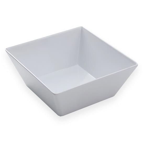 "American Metalcraft MELSQ94 9.5"" Square Bowl, Melamine/White"