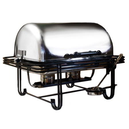American Metalcraft MESA27 Full Size Chafer w/ Roll-top Lid & Chafing Fuel Heat