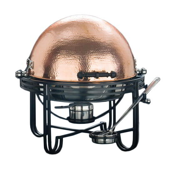 American Metalcraft MESA91C 6-qt. Round Chafer w/Roll-top Lid & Chafing Fuel Heat, Copper Finish