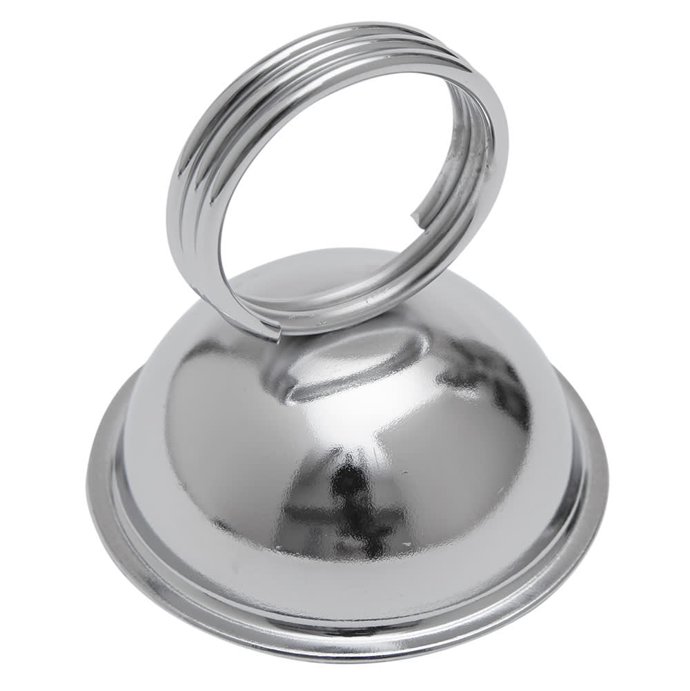 "American Metalcraft MH243 2.5"" Tabletop Menu Card Holder - Nickel-Plated"