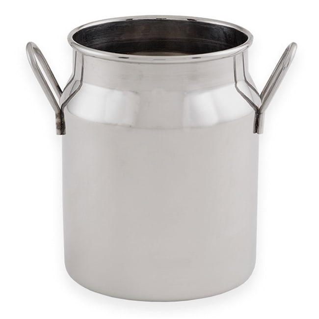 "American Metalcraft MICH10 3.12"" Round Milk Can w/ 10 oz Capacity, Stainless"