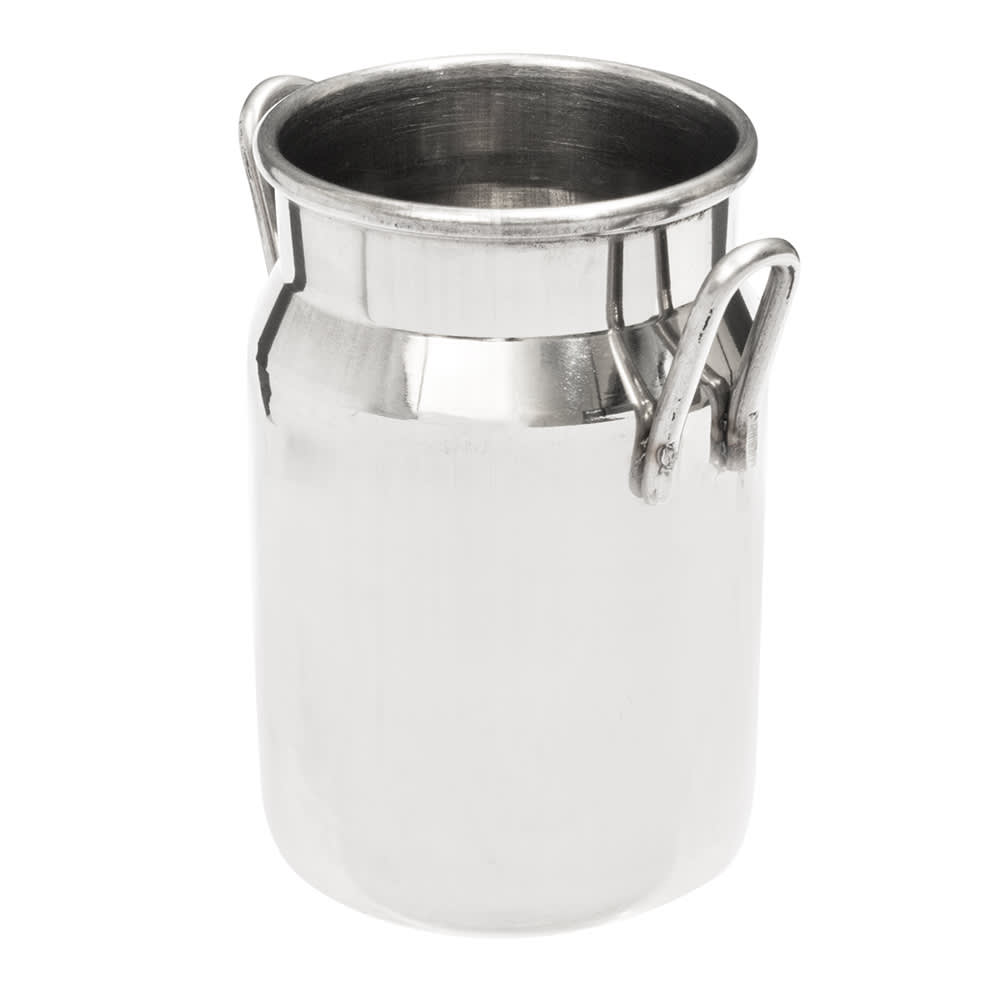 "American Metalcraft MICH5 2"" Round Milk Can w/ 5 oz Capacity, Stainless"