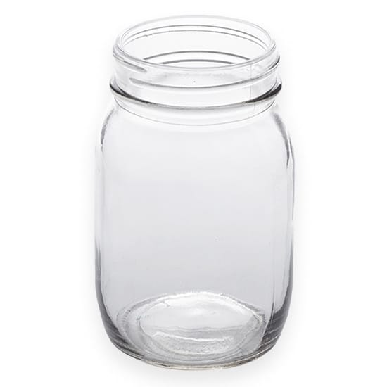 American Metalcraft MJ17 17oz Glass Mason Jar - Clear
