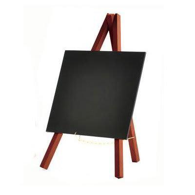 American Metalcraft MNIMKR Mini Tabletop Chalkboard w/ Removable Board, Mahogany