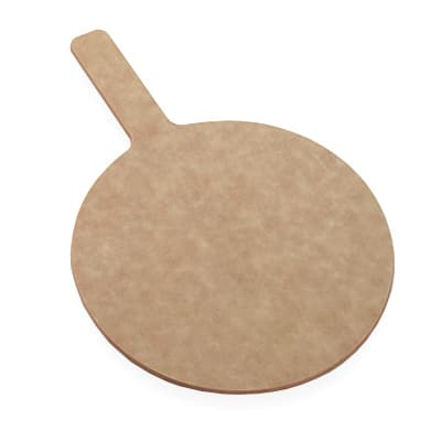 "American Metalcraft MP1015 10"" Round Pizza Peel w/ 5"" Handle, Pressed Wood"