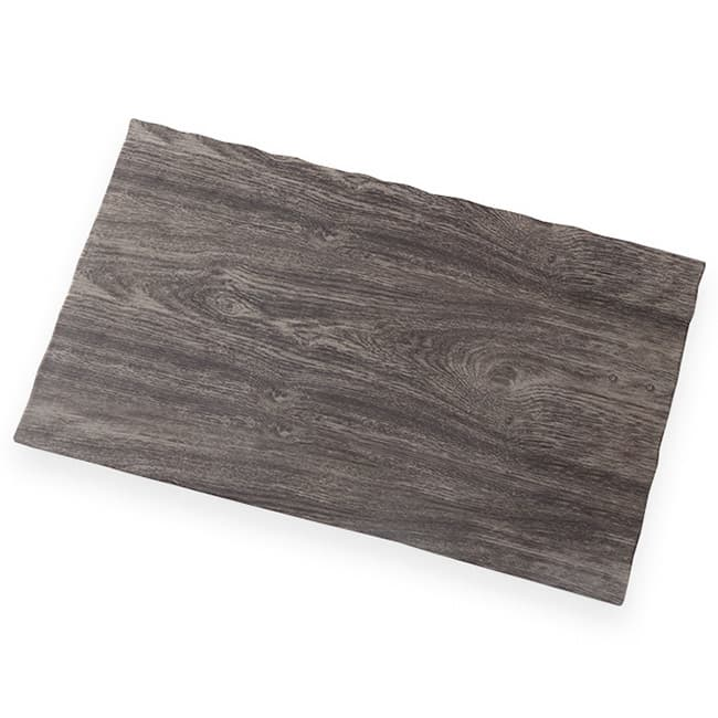 "American Metalcraft MPLA Rectangle Serving Board - 20.87"" x 12.5"", Elm Wood Melamine"