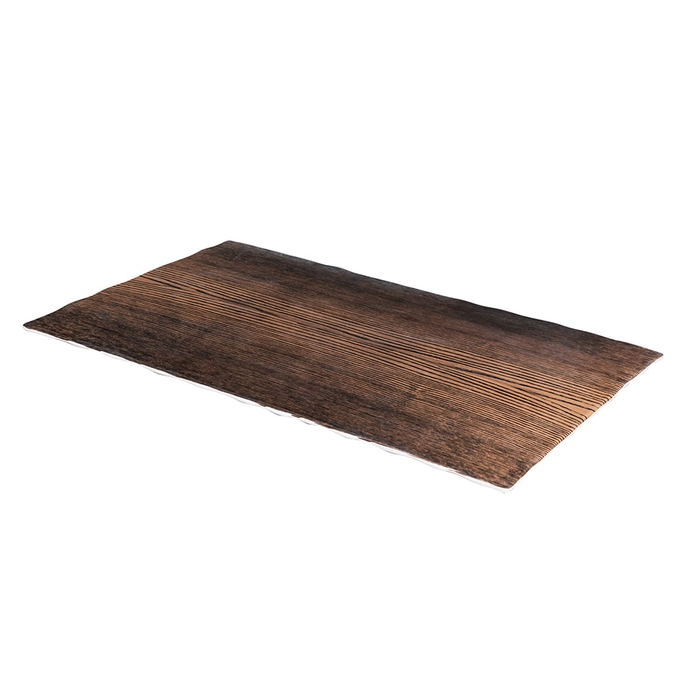"American Metalcraft MPLW Rectangle Serving Board - 20.87"" x 12.5"", Walnut Melamine"