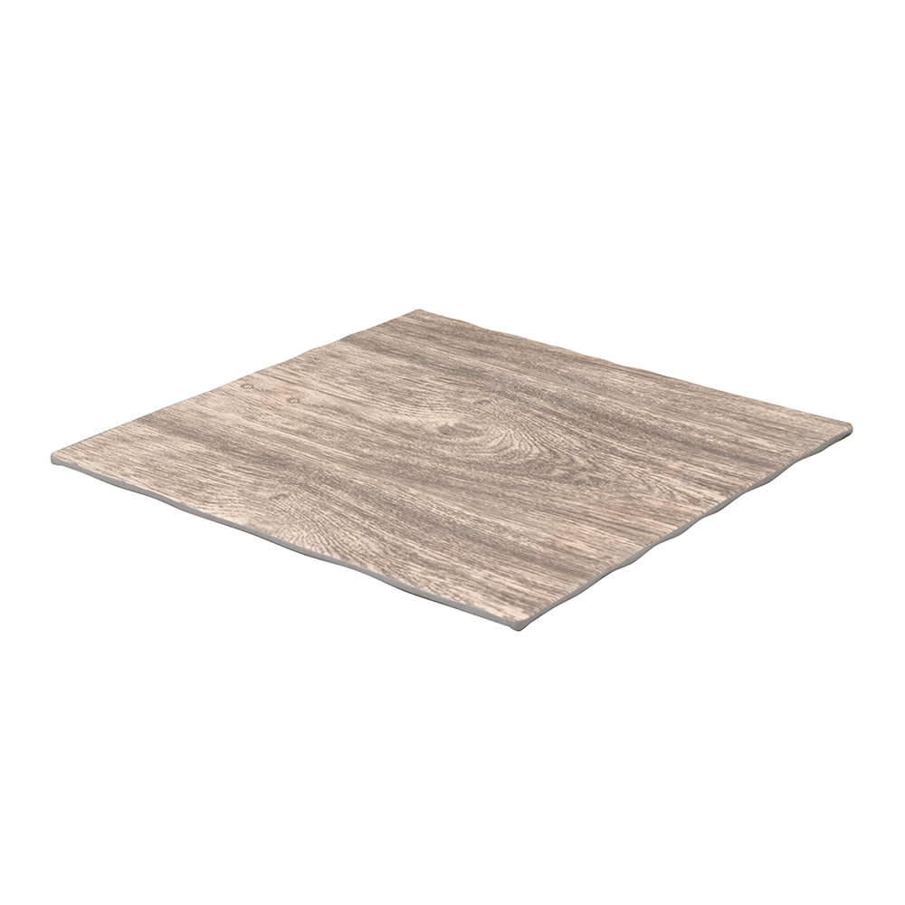 "American Metalcraft MPSA 11.25"" Square Serving Board - Elm Wood Melamine"