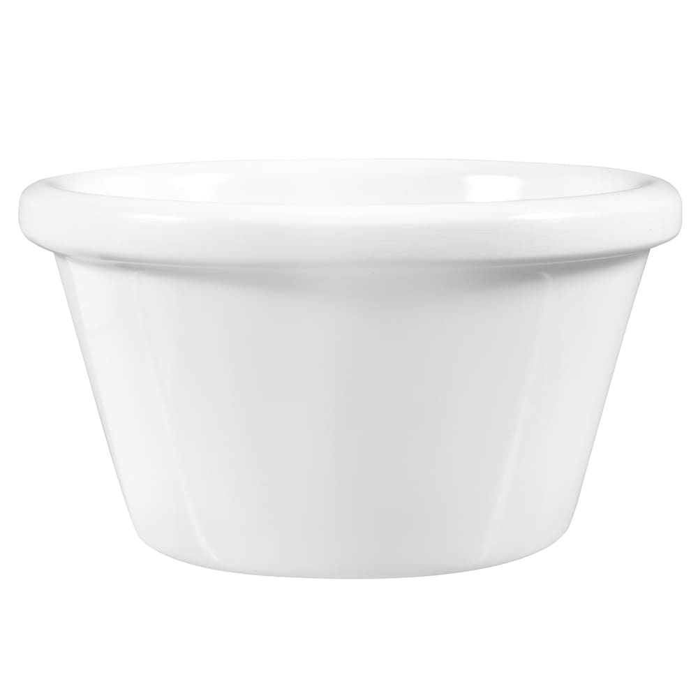 American Metalcraft MRS300W Smooth Sided Ramekin w/ 3 oz Capacity, Melamine/White