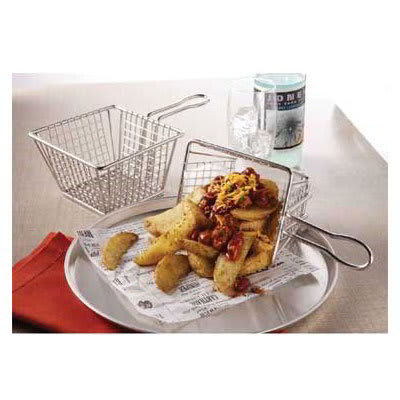 """American Metalcraft MSQBSKT 5"""" Square Fry Basket, Stainless"""