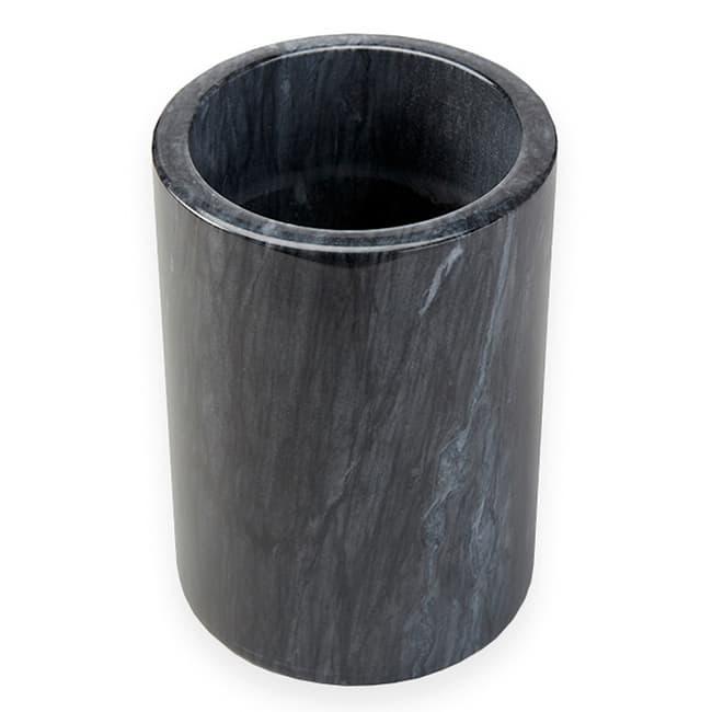 "American Metalcraft MWC59BLACK 7"" Wine Cooler, Marble/Black"