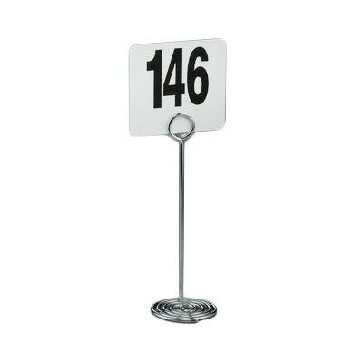 "American Metalcraft NSC8 8"" Number Card Holder - Chrome"