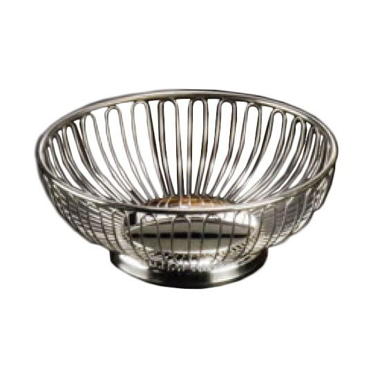"American Metalcraft OBS69 Oval Basket, 9x5.87"", Stainless"