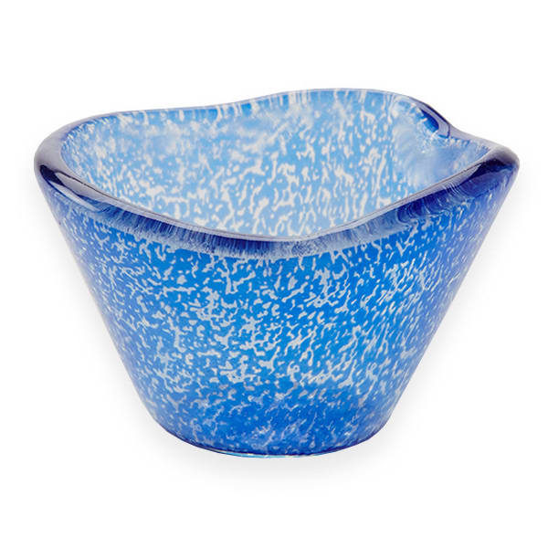 American Metalcraft ORSRBL 2.5 oz Round Sauce Cup, Glass, Blue