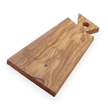 "American Metalcraft OWB117 Rectangular Serving Board w/ Handle - 12.25"" x 5.75"", Olive Wood"