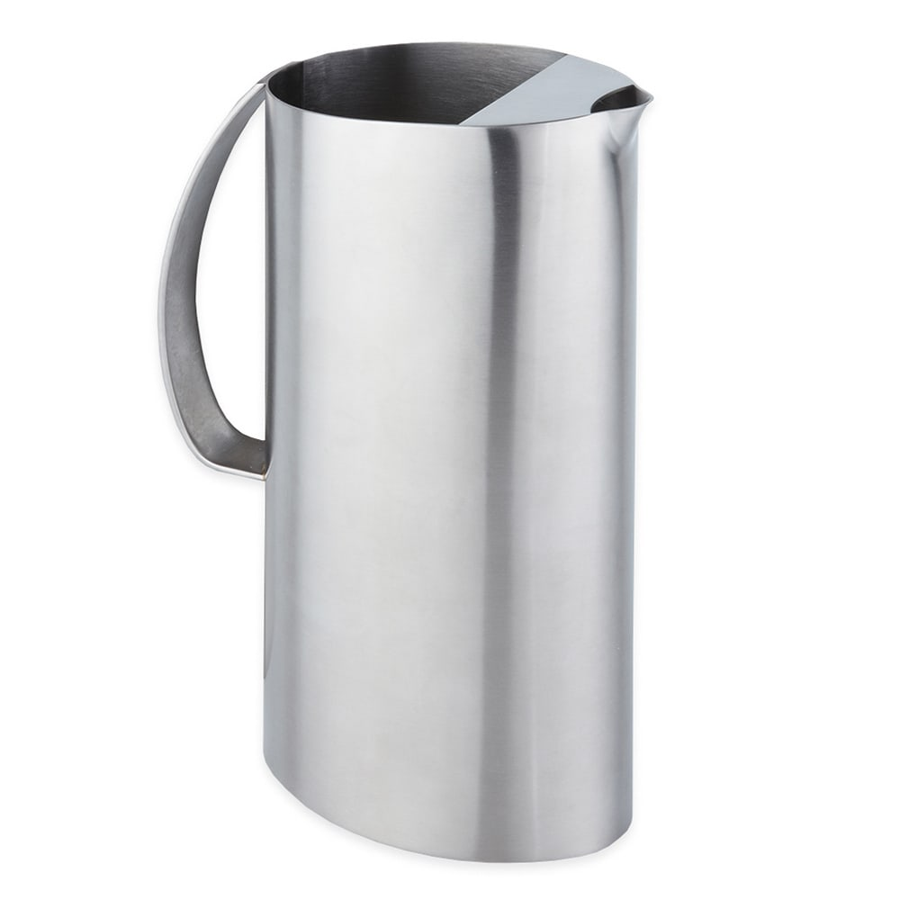 American Metalcraft OWPIT54 Water Pitcher w/ 54 oz Capacity & Ice Guard, Satin, Stainless