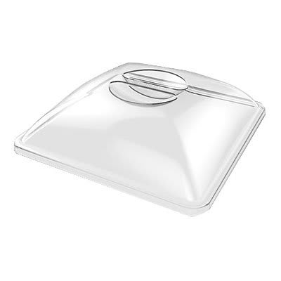 "American Metalcraft P308SL 13"" Square Lid for C302S & C305S, Clear Acrylic"
