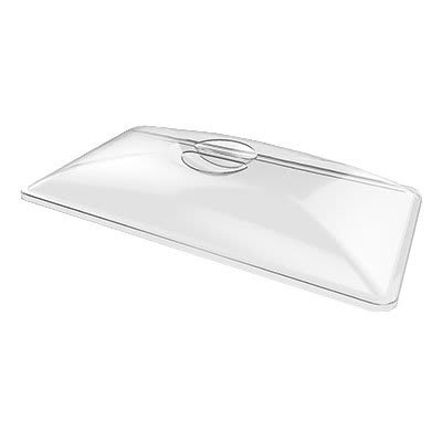 "American Metalcraft P608TL Rectangular Lid for C602T & C605T, 25x13x4"", Clear Acrylic"