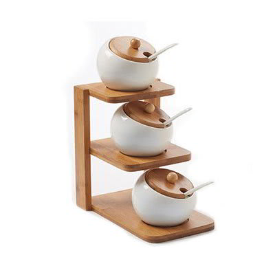 American Metalcraft PCBLS19 3-Tier Display Server Stand Set - (3)Canisters, (3)Lids