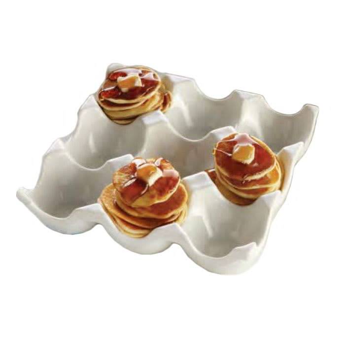 American Metalcraft PEH9 Square Egg Tray w/ 9-Slots, Porcelain, White