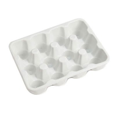 American Metalcraft PEHCT12 12-Slot Rectangular Egg Carton, Porcelain, White