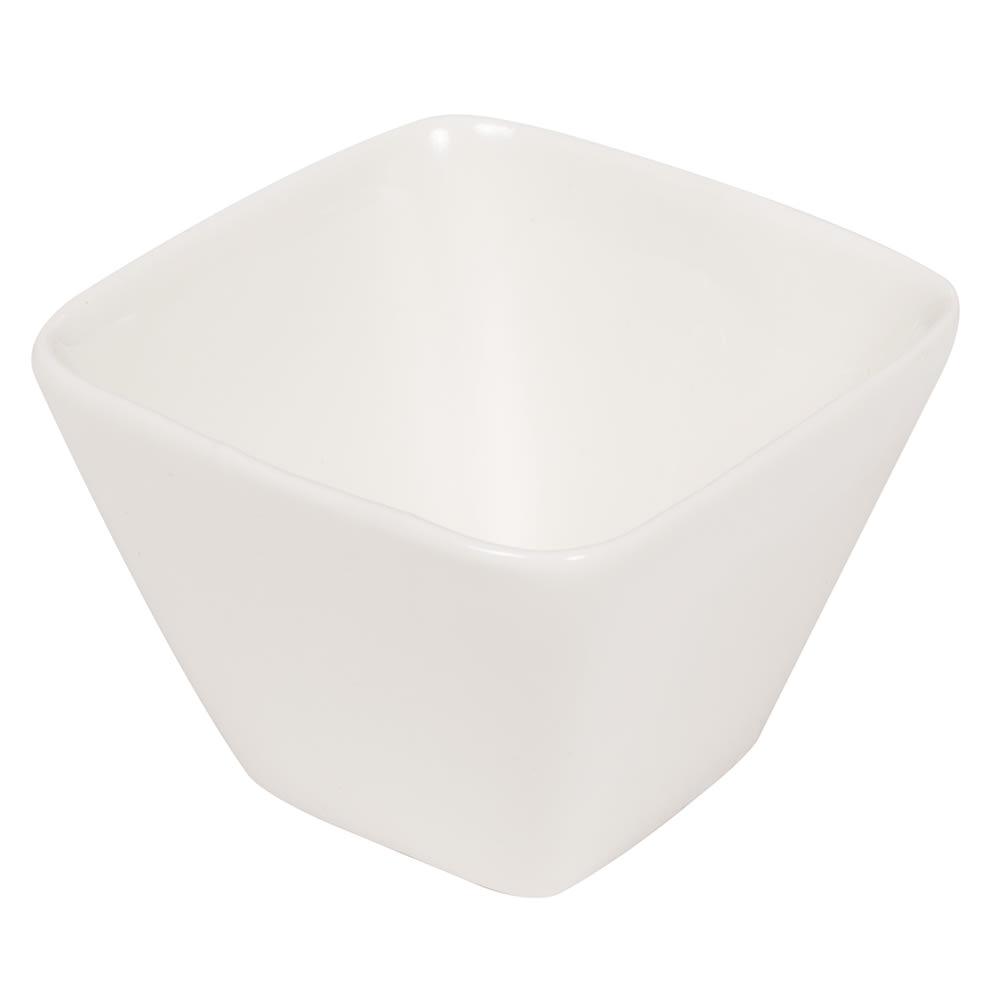American Metalcraft PORB30 6 1/2 oz Square Sauce Cup - Porcelain