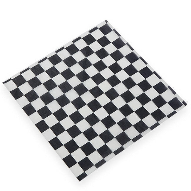 "American Metalcraft PPCH1B Checkerboard Fry Paper, 12x12"", Black"