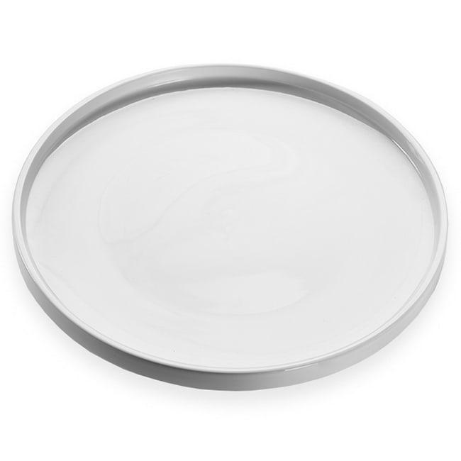 "American Metalcraft PSPL12 12"" Round Serving Platter - White Porcelain"