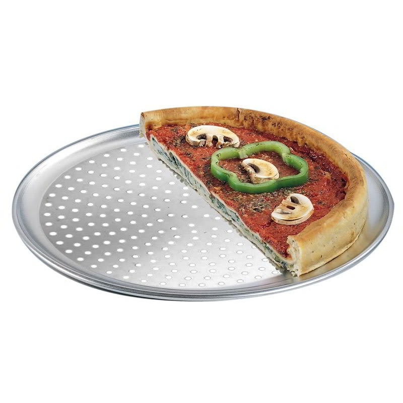 "American Metalcraft PTP16 16"" Perforated Wide Rim Pizza Pan, Aluminum"