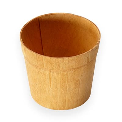 "American Metalcraft PWRP5 5"" Round Basket, Poplar Wood"