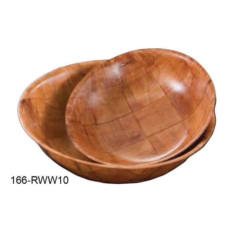 "American Metalcraft RWW10 10"" Salad & Pasta Bowl, Keyaki Wood"