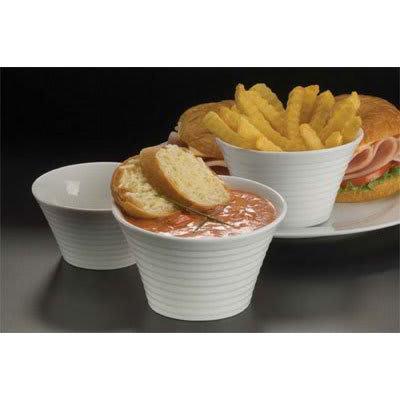 American Metalcraft SBR85 8-oz Ribbed Sauce Cup, Porcelain