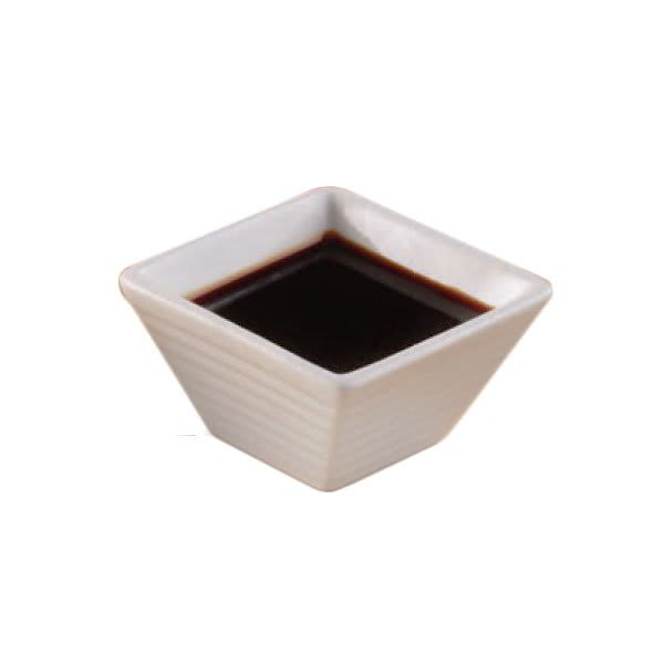 American Metalcraft SCR20 Ribbed Square Sauce Dish w/ 1.5-oz Capacity, Porcelain