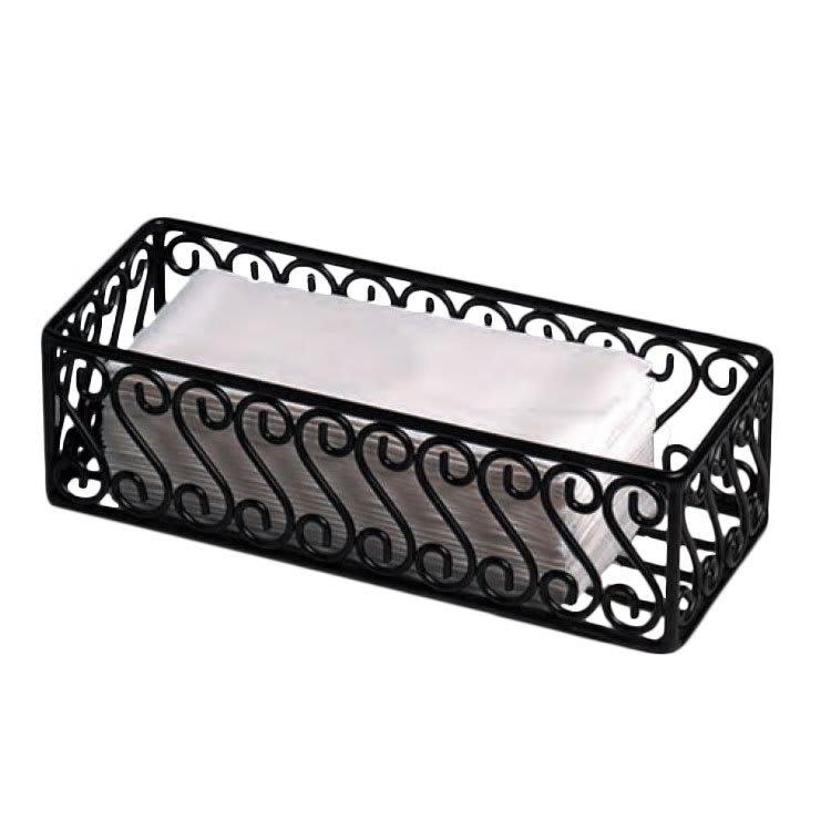 "American Metalcraft SFBB5312 Basket w/ Scroll Design, 12x5"", Wrought Iron/Black"
