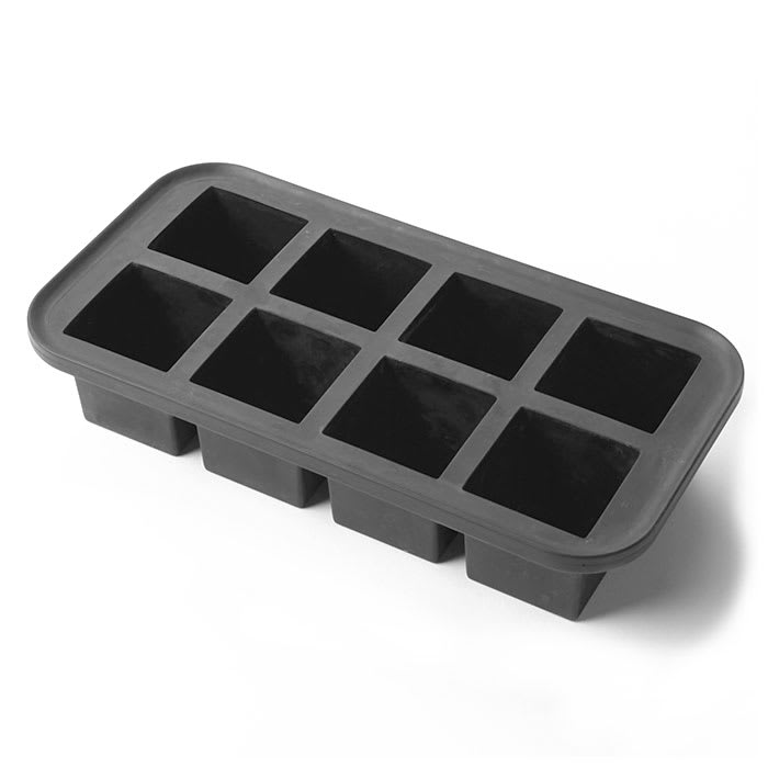 American Metalcraft SMC8 2 in Square Cubes Ice Mold - Silicone, Black