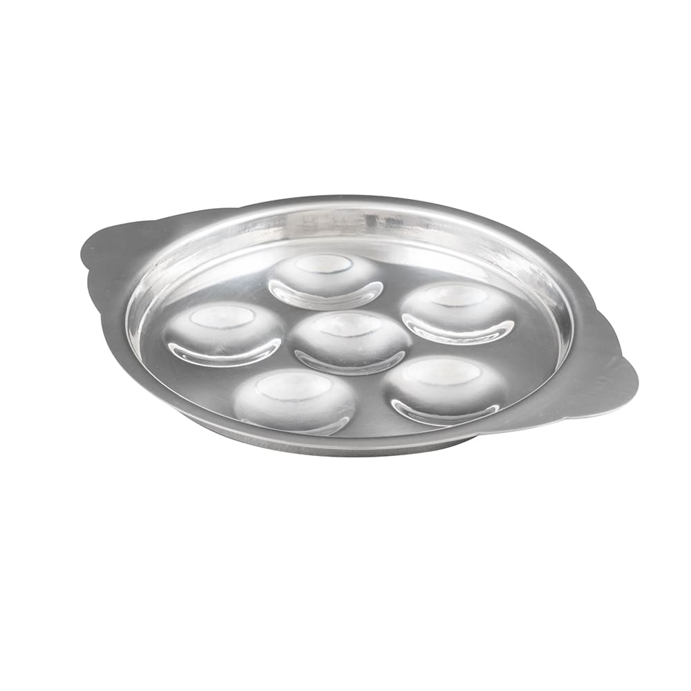 "American Metalcraft SN60 5.5"" Snail Plate w/ 6-Compartment"
