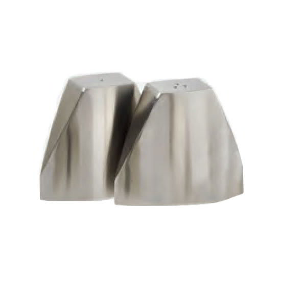 "American Metalcraft SPDX22 2.625"" Salt & Pepper Shaker Set, Triangular"