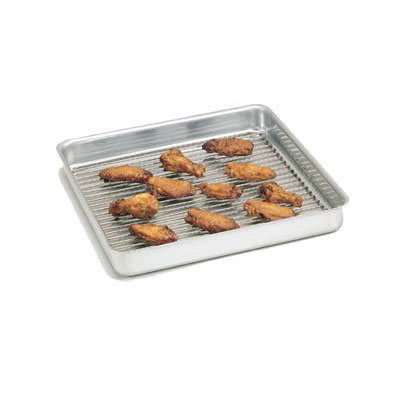 "American Metalcraft SQ1415 Straight Sided Deep Dish Pan, 14x14"", 1.5"" Deep, Aluminum"