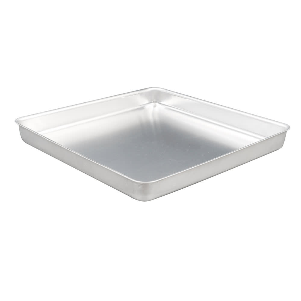 "American Metalcraft SQ1620 Straight Sided Deep Dish Pan, 16x16"", 2"" Deep, Aluminum"