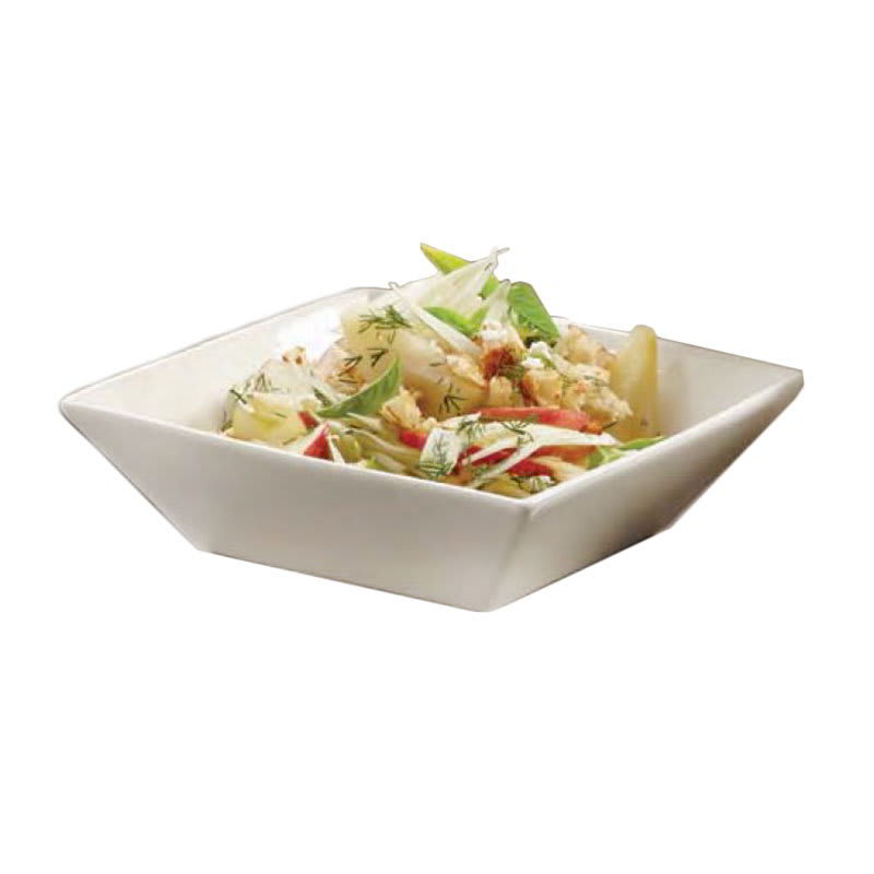 "American Metalcraft SQB88 8.25"" Square Bowl w/ 48 oz Capacity, Porcelain/White"