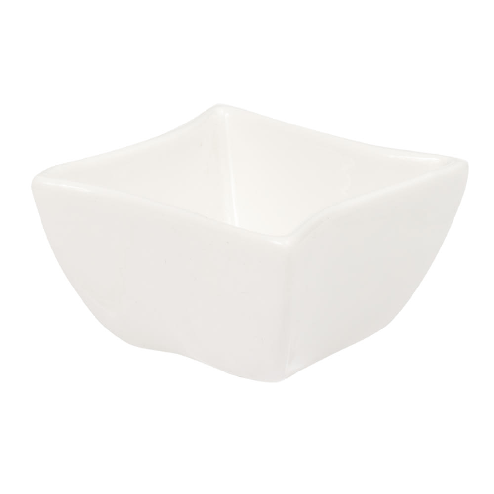 "American Metalcraft SQVY1 2.25"" Condiment Bowl w/ 1.5 oz Capacity, Porcelain/White"
