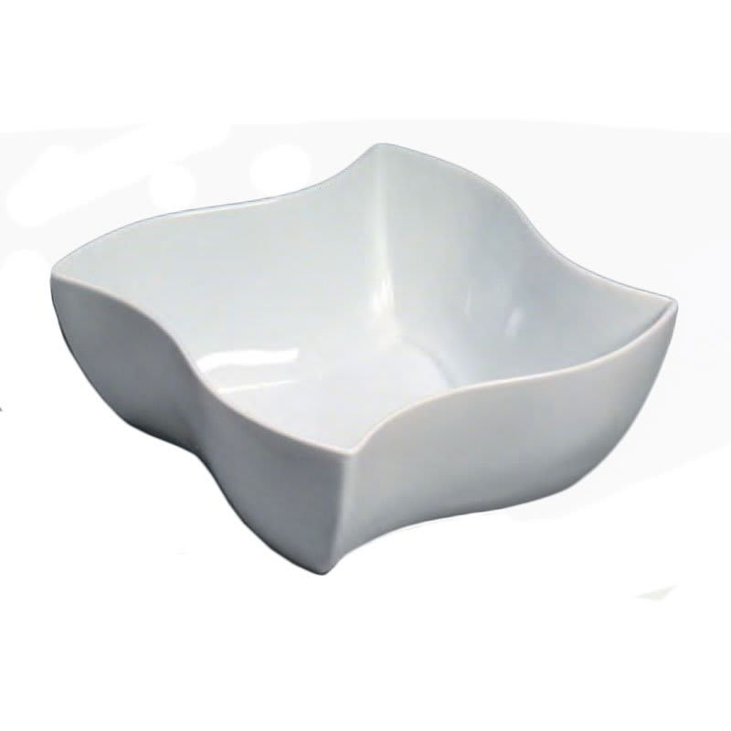 "American Metalcraft SQVY12 12"" Bowl w/ 228-oz Capacity, Porcelain/White"