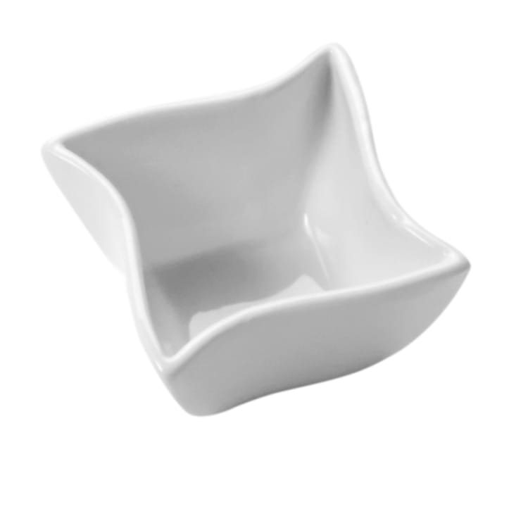 "American Metalcraft SQVY2 2.5"" Condiment Bowl w/ 2.5-oz Capacity, Porcelain/White"