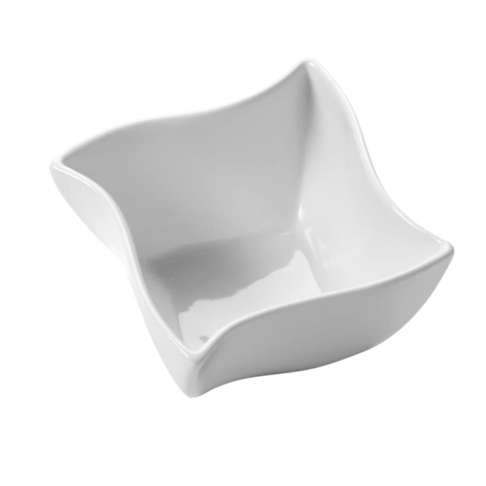 "American Metalcraft SQVY4 4.5"" Condiment Bowl w/ 14.4 oz Capacity, Porcelain/White"