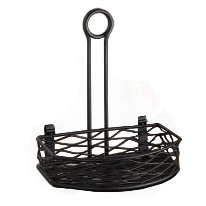 American Metalcraft SRBNB1 Wire Condiment Rack w/ Handle, Black