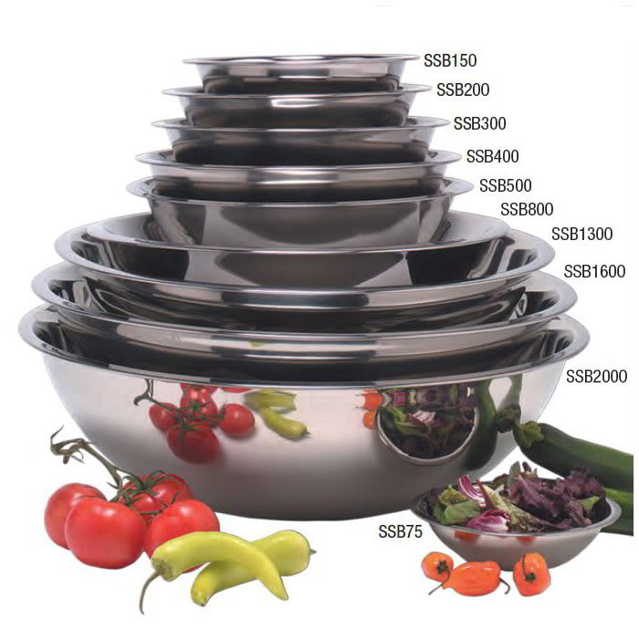 """American Metalcraft SSB200 8.5"""" Mixing Bowl w/ 2 qt Capacity, Stainless"""