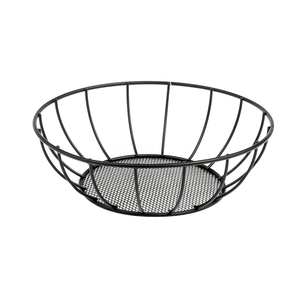 "American Metalcraft SSB28 8"" Straight Sided Basket w/ Mesh Bottom, Mesh"