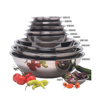 "American Metalcraft SSB400 10.5"" Mixing Bowl w/ 4-qt Capacity, Stainless"