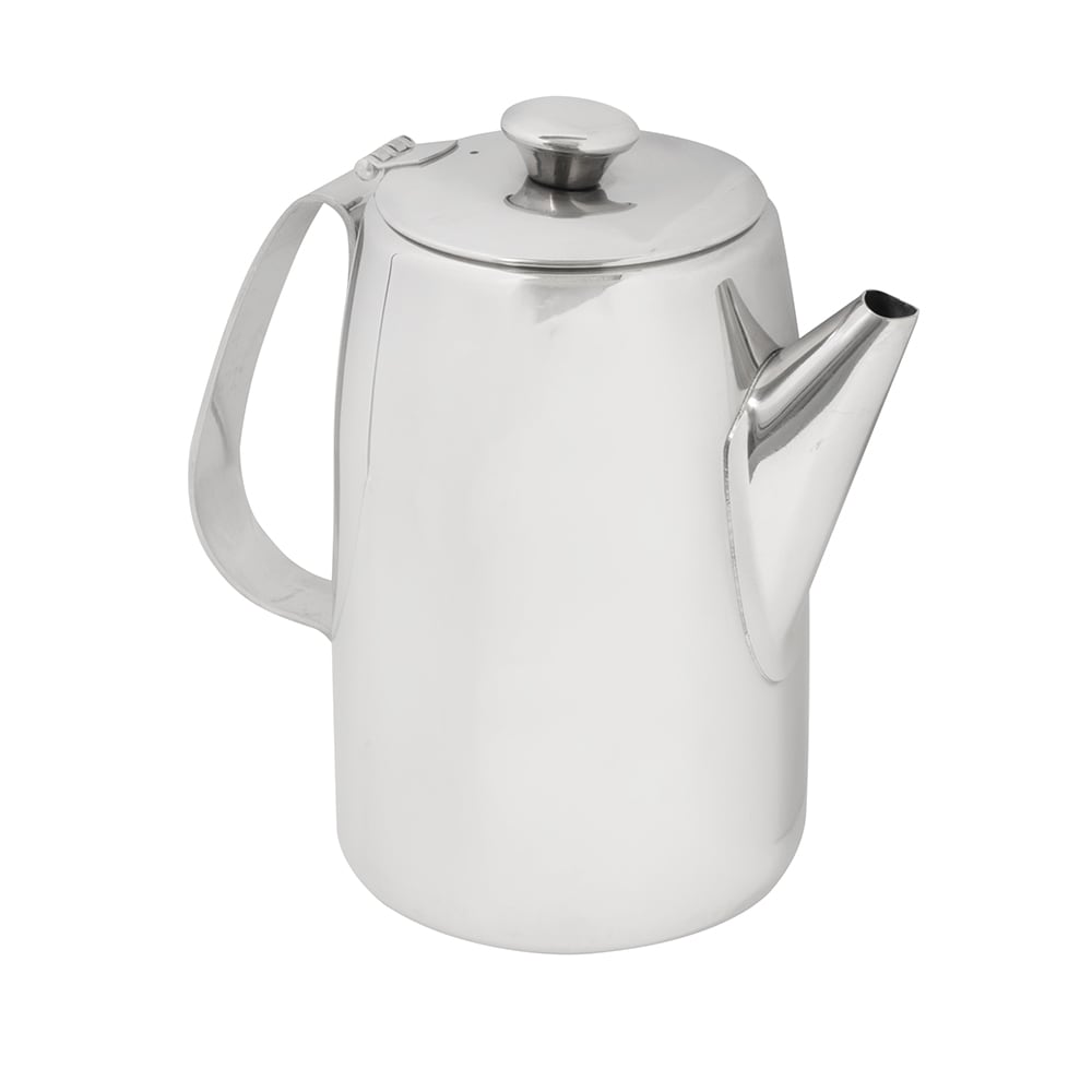 American Metalcraft SSCP68 Coffee Server w/ 68 oz Capacity & Hinged Lid, Mirror/Stainless